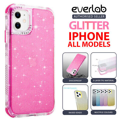 AU9.50 • Buy Clear Bling Hybrid Glitter Shockproof Case Cover Fr IPhone 12 11 Pro Max XS XR 8