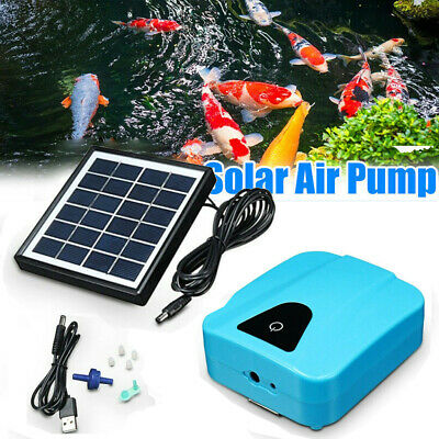 £16.88 • Buy Solar Powered Oxygenator Water Oxygen Pump Pond Aerator With 1 Air Stone