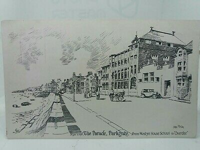 £8.75 • Buy Sketch Drawing Of The Parade Parkgate By John Pride Vintage Postcard Overdee Etc