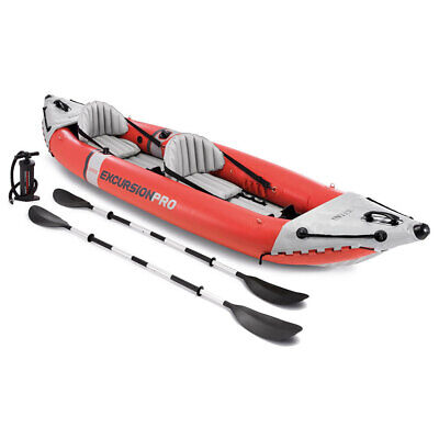 AU489.95 • Buy Intex 384cm Excursion Pro Inflatable Sports/Fishing River Kayak/Boat W/ Oars