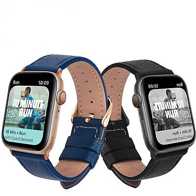AU9.06 • Buy Leather Apple Watch Band Strap For IWatch Series 6 5 4 3 2 1 SE 38mm 40/42/44mm