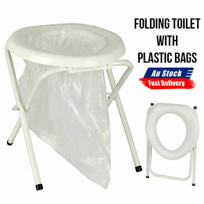 AU27.99 • Buy NEW Outdoor Camp Travel Camping Portable Folding Toilet Caravan With Plastic Bag