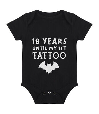 £8.75 • Buy 18 Years Until My 1st Tattoo Baby Grow - Funny Cute Alternative - Free Delivery