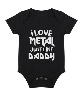 £8.75 • Buy I Love Metal Just Like Daddy Baby Grow - Funny Cute Alternative - Free Delivery