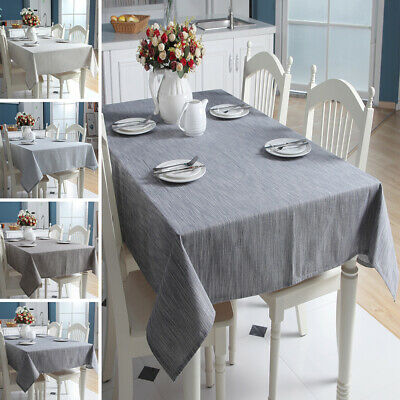 AU19.86 • Buy Cotton Linen Table Cloth Cover Rectangle Square Tablecloth Kitchen Dining Decor
