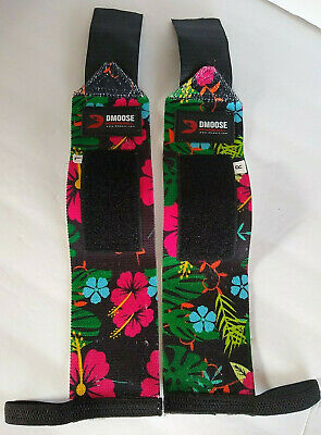 £10.90 • Buy DMoose Weightlifting Wrist Straps Deadlift Floral Leaf Pattern Colorful Lifting