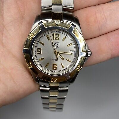 £363.15 • Buy TAG Heure 2000 18k Gold Professional Mens Divers Watch WN1153-0