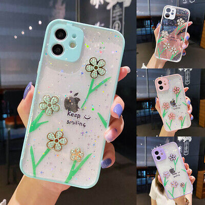 AU8.14 • Buy For IPhone 12 Pro Max 11 XR XS 7 8 Bling Glitter Star Flower Clear Girl TPU Case
