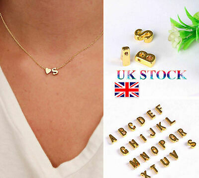 £2.95 • Buy  GOLD ALPHABET NECKLACE WITH HEART Intial Letter Pendant Women,gold Colour