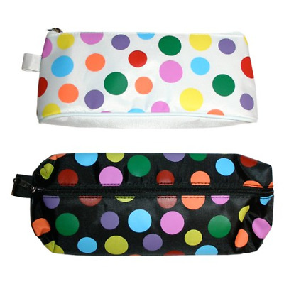 £5.30 • Buy Just Stationery 210mm Polka Dots Pencil Case - Assorted Shapes