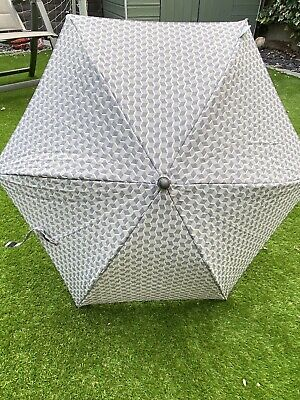 £19.99 • Buy BRAND NEW In Plastic Sleeve MAMAS AND PAPAS Grey Textured Pushchair Sun Parasol