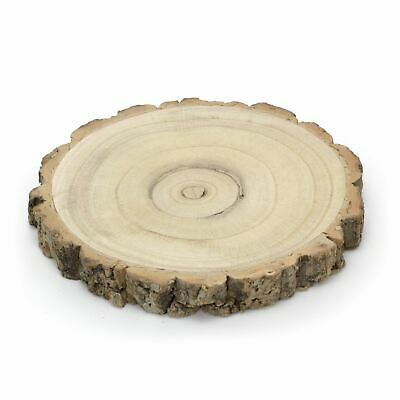 £9.99 • Buy 22cm Rustic Wooden Tree Trunk Slice   Wedding Table Centerpiece   Cake Stand