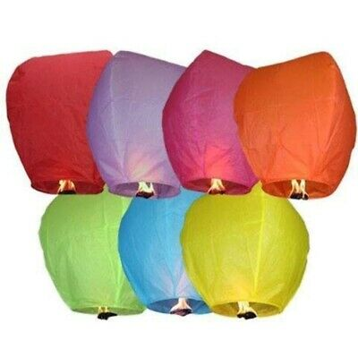 £9.99 • Buy Lanterns Candle Lamp Kongming Lighting Flying Papers For Birthday Party Wedding