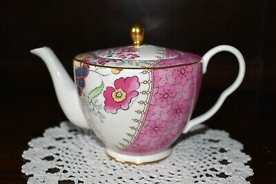 £85 • Buy Wedgwood Butterfly Bloom TEAPOT /NEW /1st /BOXED