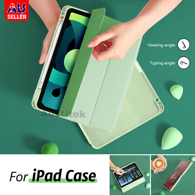 AU29.75 • Buy For IPad Pro 12.9 11 2021 Apple Case Folio TPU Stand Smart Cover With Pen Holder