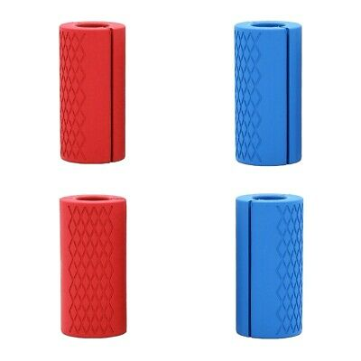AU33.25 • Buy 4x Fat Bar Handles Thick Barbell Dumbbell Grips For Weightlifting Training