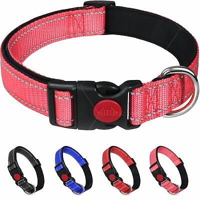 £3.99 • Buy Dog Collar Puppy Adjustable Nylon Durable Collars 3 Colours 4 Sizes Uk SellerNew