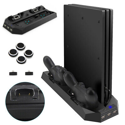 AU28.53 • Buy For PS4 Pro Dual Controller Charger Station Vertical Stand Cooling Fan Holder El