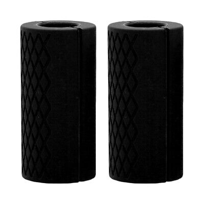 AU20.69 • Buy 2pcs Thicken Fat Silicone Barbell Grip Home Weight Lifting Dumbbell Turns