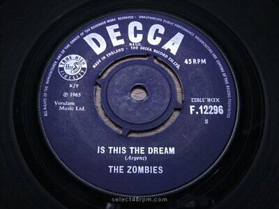 £30 • Buy ZOMBIES ~ Is This The Dream ~ MINT ~ 1965 UK DECCA F 12296 ~ Mod Beat R&B Dancer