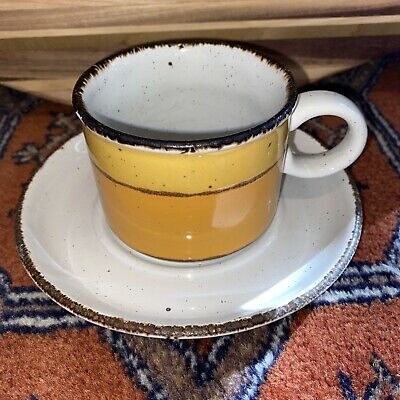 £3.66 • Buy Vintage Stonehenge Midwinter Sun Cup And Saucer England Stoneware