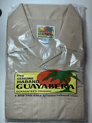 £21.55 • Buy New In Packaging Haband Guayabera Men's Button Embroidered Shirt Size L Large