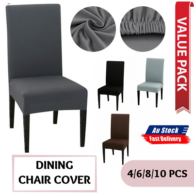 AU16.99 • Buy Dining Chair Cover UP 10 Pcs Stretch Removable Slipcover Washable Banquet Event
