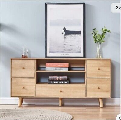 £40 • Buy  TV Stand Unit Entertainment Cabinet Display Unit Storage Stand With 5 Drawers