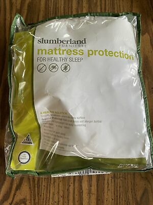 """£13.92 • Buy Slumberland Queen Size Mattress Protection White Smooth Breathable 60"""" X 80"""""""