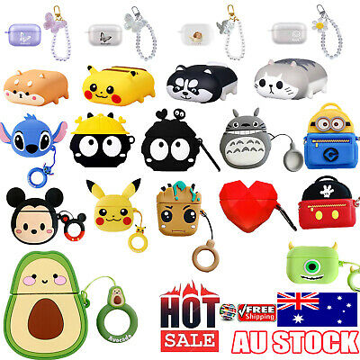 AU8.97 • Buy For Apple AirPods 1/2 And Pro Case Cover Silicone Keychain Multi Desgins