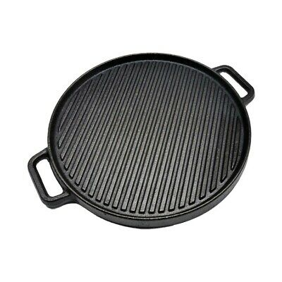 £24.99 • Buy LONOVE Cast Iron Griddle Plate Enamel Pan Grill BBQ Skillet NEW, Double Sided