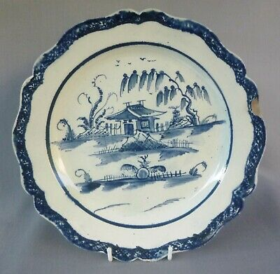 £135 • Buy Blue Painted Pearlware Plate Marked TURNER, Pagoda & Fence.   C 1780's