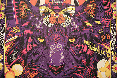 $120 • Buy Foo Fighters Concert Poster Nashville TN By Tyler Stout Very Rare #50/50 2017