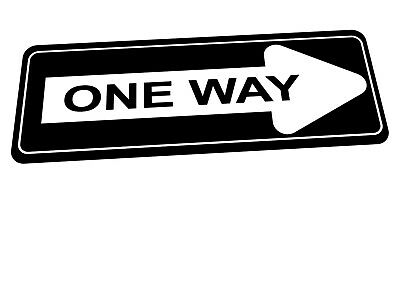 £8 • Buy American One Way Road Sign Reproduction Road Sign California One Way Sign