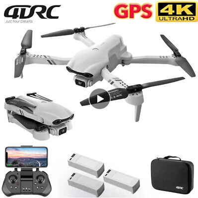 AU145 • Buy Foldable 5G 4K GPS Drone X Pro With HD Dual Camera Drones WiFi FPV RC Quadcopter