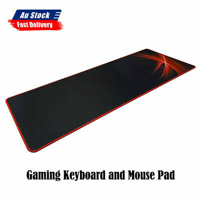 AU23.95 • Buy NEW Gaming Keyboard And Mouse Pad Ultra Durable Rectangle Shape XM5101
