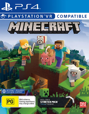 AU46.95 • Buy Minecraft Starter Collection PS4, PlayStation VR Game NEW