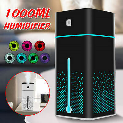 AU26.95 • Buy 1000ML Aroma Essential Air Humidifier Ultrasonic Purifier Diffuser Oil LED Light