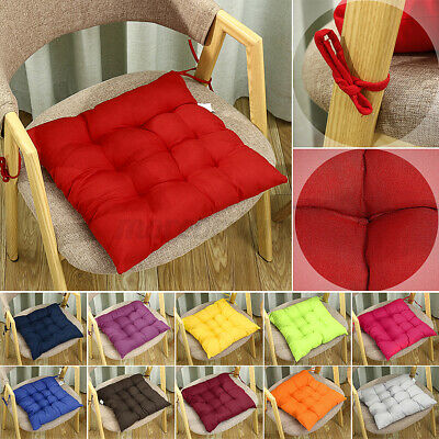 £5.99 • Buy Soft Chair Cushion Seat Pad Dining Thick Tie On Garden Home Kitchen Floor  ;-