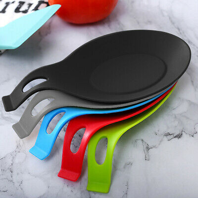 £2.59 • Buy Multipurpose Kitchen Silicone Spoon Rest Mat Cooking Holder Heat Resistant Tool