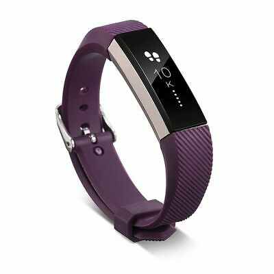 AU5.45 • Buy TPU Replacement Watch Wrist Band Strap Metal Buckle Clasp For Fitbit Alta Purple