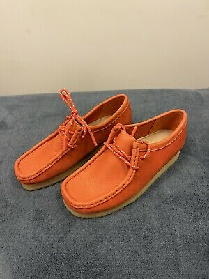 £45 • Buy CLARKS LADIES ORIGINALS  WALLABEE  RED  LACE LEATHER SHOES Size 3,5 D RRP£120.