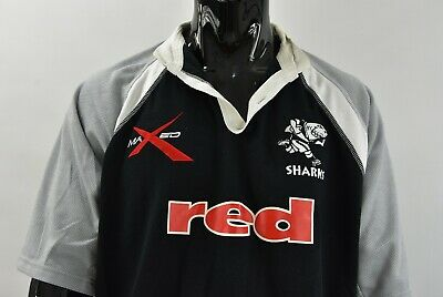 £53.25 • Buy MAXED Natal Sharks Rugby Union Shirt SUPER 14 Jersey SIZE L (adults)