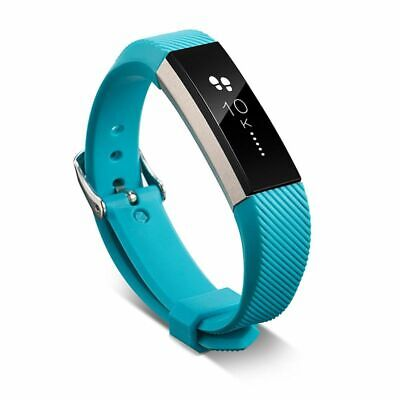 AU5.45 • Buy Replacement TPU Metal Buckle Wrist Band For Fitbit Alta/ Alta HR Turquoise