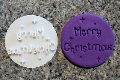 AU8.95 • Buy Merry Christmas Cookie Cutter Style 1 - Fondant Cutter Embosser, 3D Printed