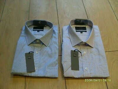 £9.99 • Buy M & S Mens Regular Fit 100% Cotton Formal Shirt - Pink Or Blue - Sizes - Bnwt