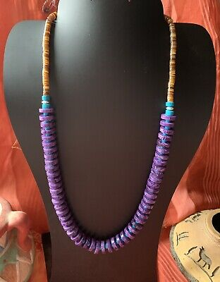 £36.36 • Buy Native American Charoite Heishi Necklace *hold Forjanelle*