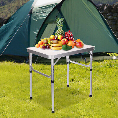 £22.99 • Buy Portable Folding Camping Table Aluminium Carry BBQ Desk Kitchen Outdoor Picnic