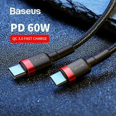 AU7.49 • Buy Baseus USB Type C To USB-C Cable QC3.0 60W PD Quick Charge Cable Fast Charging