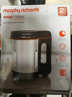 £32 • Buy Morphy Richards Compact 1L 900W Stainless Steel Soup Maker 501021 -N/O